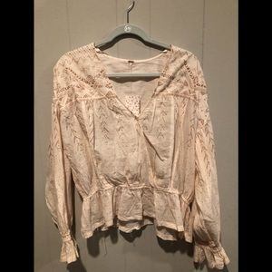 Free people snowy sand blouse M NWT